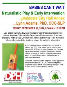Naturalistic Play Workshop 2014