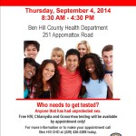 STD Clinic 2014 - SEpt