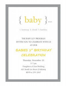 First Birthday Party 2014