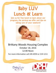 Baby LUV Lunch Learn